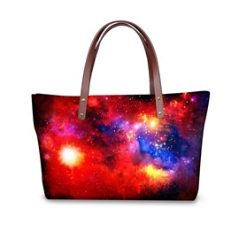 Galaxy Universal Star Shining Waterproof Sturdy 3D Printed for Women Girls Shoulder HandBags