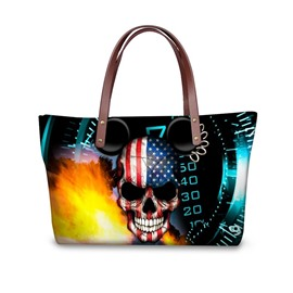 Number Skull Flag Micky Waterproof 3D Printed Shoulder Handbag