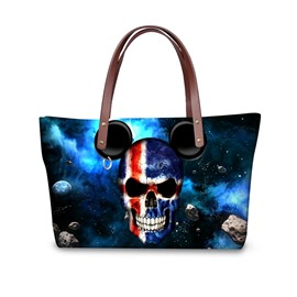 Micky Skull Galaxy Waterproof 3D Printed Shoulder Handbag