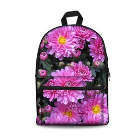 3D Floral Pink Pattern School Outdoor for Man&Woman Backpack