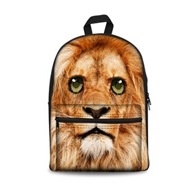 Show Personality Style 3D Lions with Big Eyes Pattern School for Man&Woman Backpack