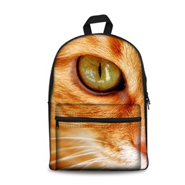 3D Vivid Cute Cat Eyes School Backpack for Boys Girls Fashion Durable Book Bag