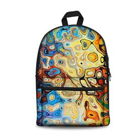 Show Personality Style 3D Abstract Art Circle Pattern School for Man&Woman Backpack