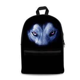 New 3D Animals Wolf Black Bottom Color Print Backpack School Bags Cool Casual Laptop Packs