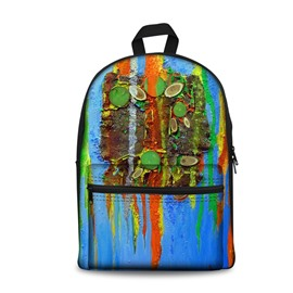 3D Modern Style Oil Painting Pattern Washable Lightweight School Outdoor Backpack