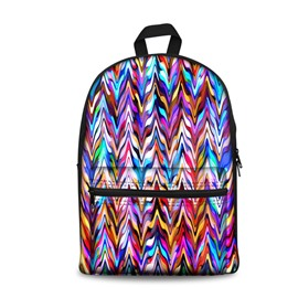 3D Abstract Art Colorful School Backpack for Boys Girls Fashion Durable Book Bag