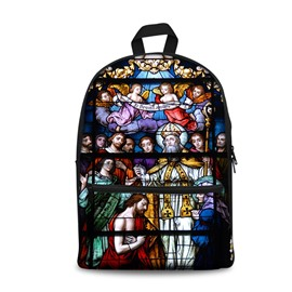 3D Colorful Church and Theology Pattern School Outdoor for Man&Woman Backpack
