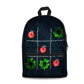 3D Nine Block Box with Leaves and Ladybirds School Outdoor for Man&Woman Backpack