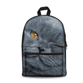 New 3D Animals Kitty Cats Print Backpack School Bags Cool Casual Laptop Packs
