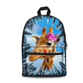 New 3D Animals Giraffe Print Backpack School Bags Cool Casual Laptop Packs