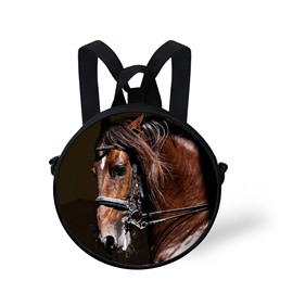 Horse Face Pattern School Bag Shoulders Backpack