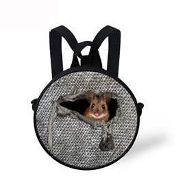 Mouse in the Cloth Pattern School Bag Shoulders Backpack