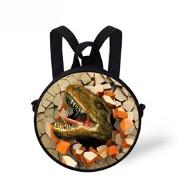 Round 3D Dinosaur Pattern School Bag Shoulders Backpack