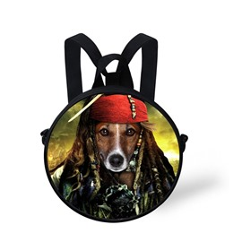3D Pirate Dog Printed Cool Style Polyester Outdoor Packback