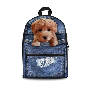 Teddy 3D Design Fashion Pattern School Outdoor Backpack