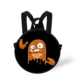 Halloween Pumpkin Color Pattern School Bag Shoulders Backpack
