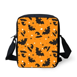 3D Halloween Bat Pattern Messenger School Bag