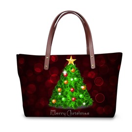Christmas Tree Waterproof 3D Printed Shoulder Handbag