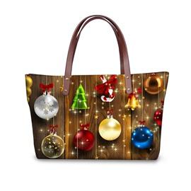 Christmas Tree Decor Waterproof 3D Printed Shoulder Handbag