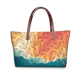 3D Leaf Printed for Women Girls Shoulder HandBag