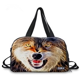 Modest Snow Wolf Pattern 3D Painted Travel Bag