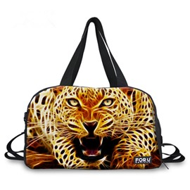 Fashion Leopard Pattern 3D Painted Travel Bag