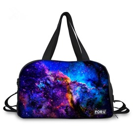 Charming Multicolor Cloud Pattern 3D Painted Travel Bag