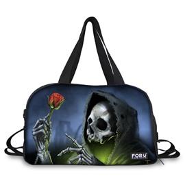 Unique Skull Sorcerer Pattern 3D Painted Travel Bag