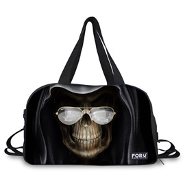 Unique Skull with Glasses Pattern 3D Painted Travel Bag