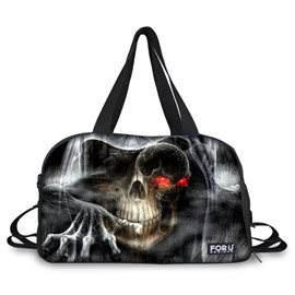 Abstract Skull Pattern 3D Painted Travel Bag