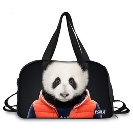Vivid Panda Sir Pattern 3D Painted Travel Bag
