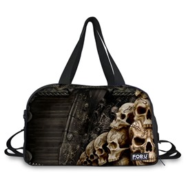 Unique Skulls Pattern 3D Painted Travel Bag