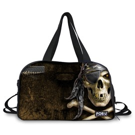 Cool Skull Pirate Pattern 3D Painted Travel Bag