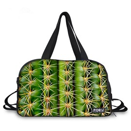 Cool Cactus Pattern 3D Painted Travel Bag