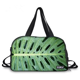 Pretty Leaf Pattern 3D Painted Travel Bag