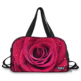 Amazing Fresh Rose Pattern 3D Painted Travel Bag