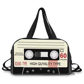 Audiotape Pattern Nylon Casual Large Capacity Shoulder 3D Travel Bags