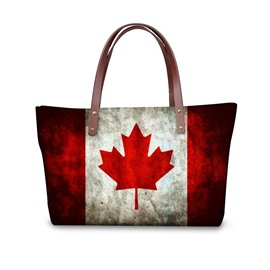 Canada's Retro Flag Waterproof Sturdy 3D Printed for Women Girls Shoulder HandBags