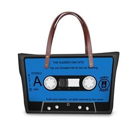 Radio Tape Blue Waterproof Sturdy 3D Printed for Women Girls Shoulder HandBags