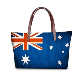 UK Flag Pattern Waterproof Sturdy 3D Printed Shoulder HandBags