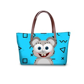 3D Squirrel Waterproof Sturdy Printed for Women Girls Shoulder HandBag