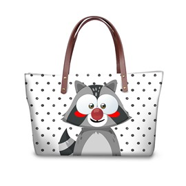 3D Cute Squrrel Waterproof Sturdy Printed for Women Girls Shoulder HandBag