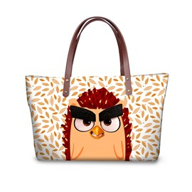 Red Bird with Thick Eyebrows Waterproof Sturdy 3D Printed for Women Girls Shoulder HandBag