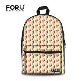 Colorful Ice Cream Pattern Lightweight Breathable High Quality 3D Printed Backpack