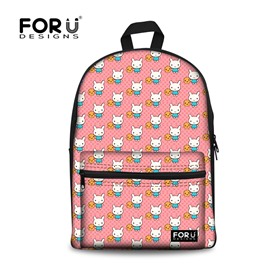 Happy Smile Rabbit Pink High Quality School Bag for Girls Backpack