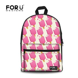 Ice Cream Summer Breathable Waterproof Outdoor Pink Hiking 3D Printed Backpack