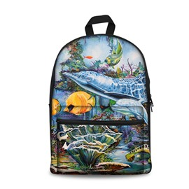 Modern Style 3D Sea World and Marine Organism Pattern School for Man&Woman Backpack