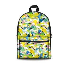 Show Personality Modern Style Yellow 3D Pattern School for Man&Woman Backpack