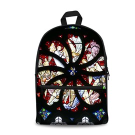 Show Personality Style 3D Church and Angles Pattern School for Man&Woman Backpack