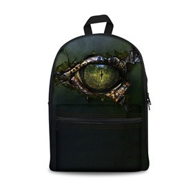New Fashion 3D Postmodern Style Devil's Eyes Backpack Students School Campus Bags